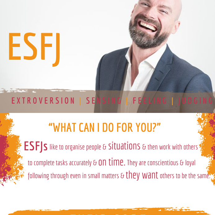 ESFJ: What can I do for you?