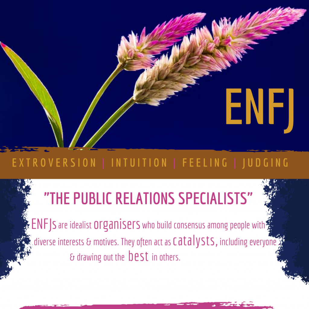 ENFJ: The public relations specialists