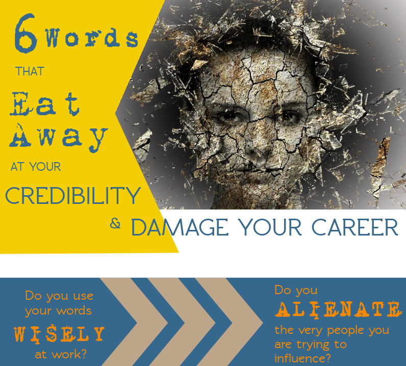 Infograhpic 6 words that eat away at your credibility
