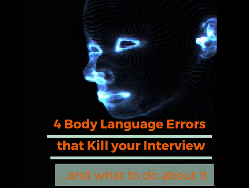 Video on 4 Body language errors that kill your interview
