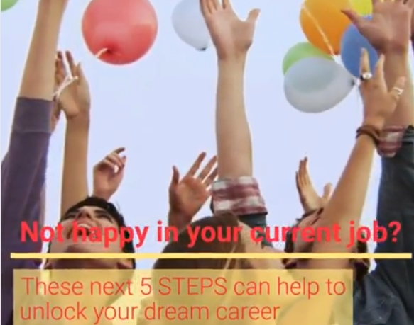 Video on 5 Steps to help you achieve happiness at work
