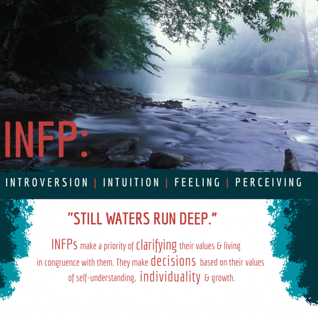 Infographic on MBTI personality profile INFP