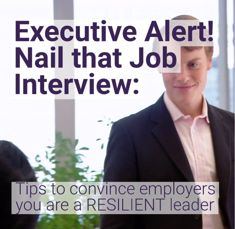 Video with tips to convince employers you are a resilient leader