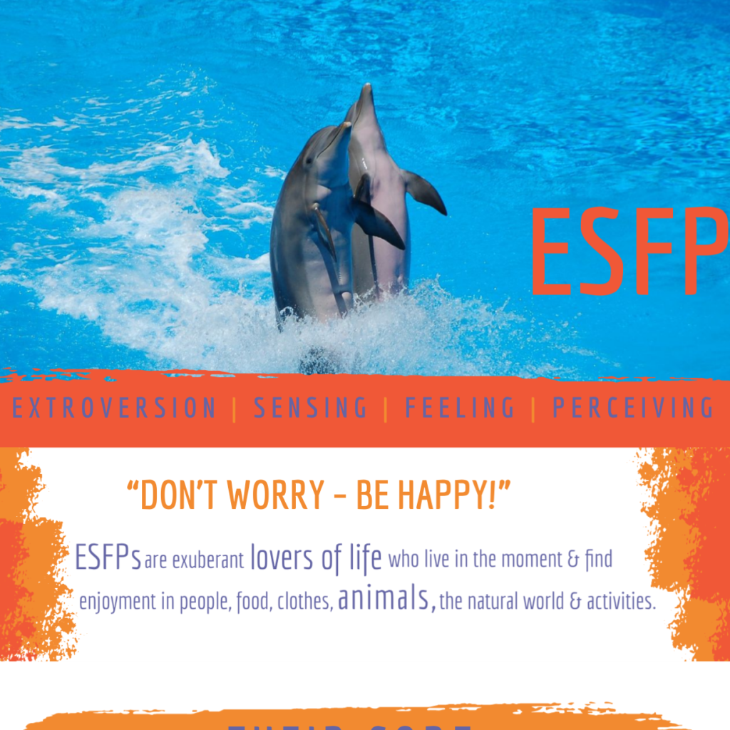 Infographic cover for MBTI personality profile ESFP