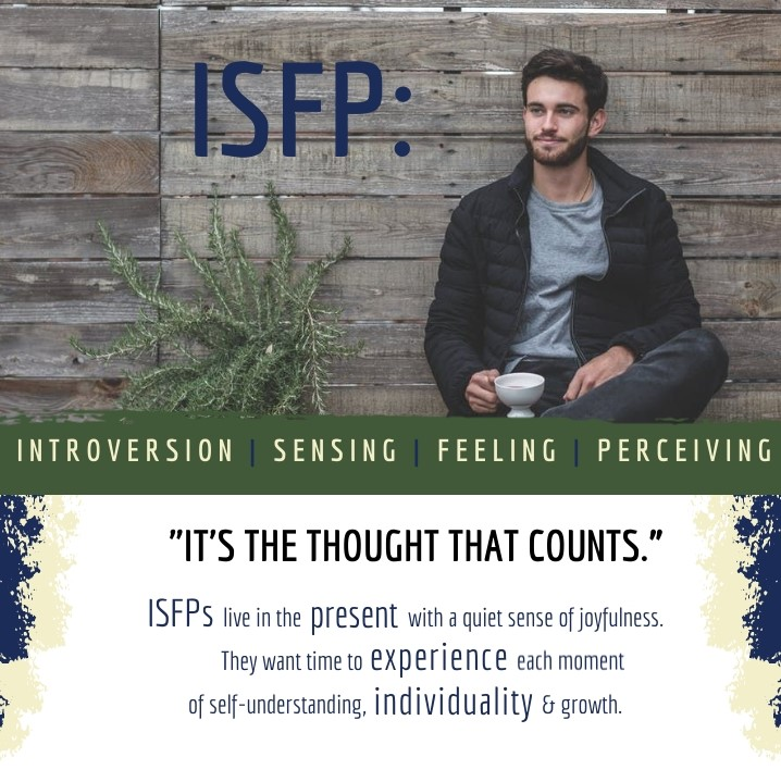 Infographic cover on MBTI personality profile ISFP