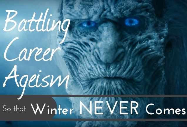 Infographic cover on how to battle career ageism