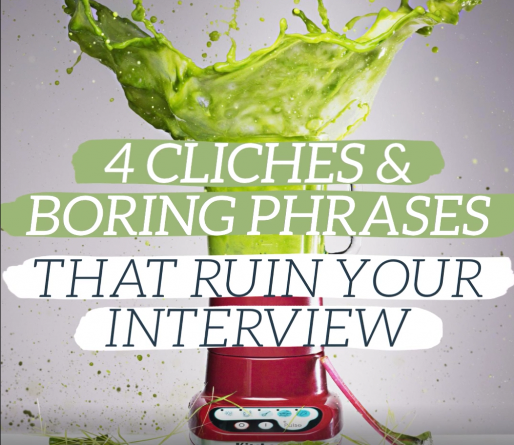 Career Video on 4 cliches and boring phrases that will ruin your interview