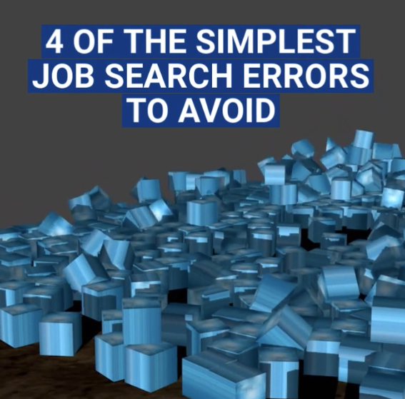 Video on 4 Job Search Errors to Avoid